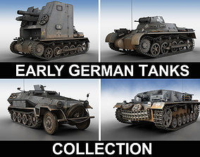 3D model Early german WWII Tanks - Collection