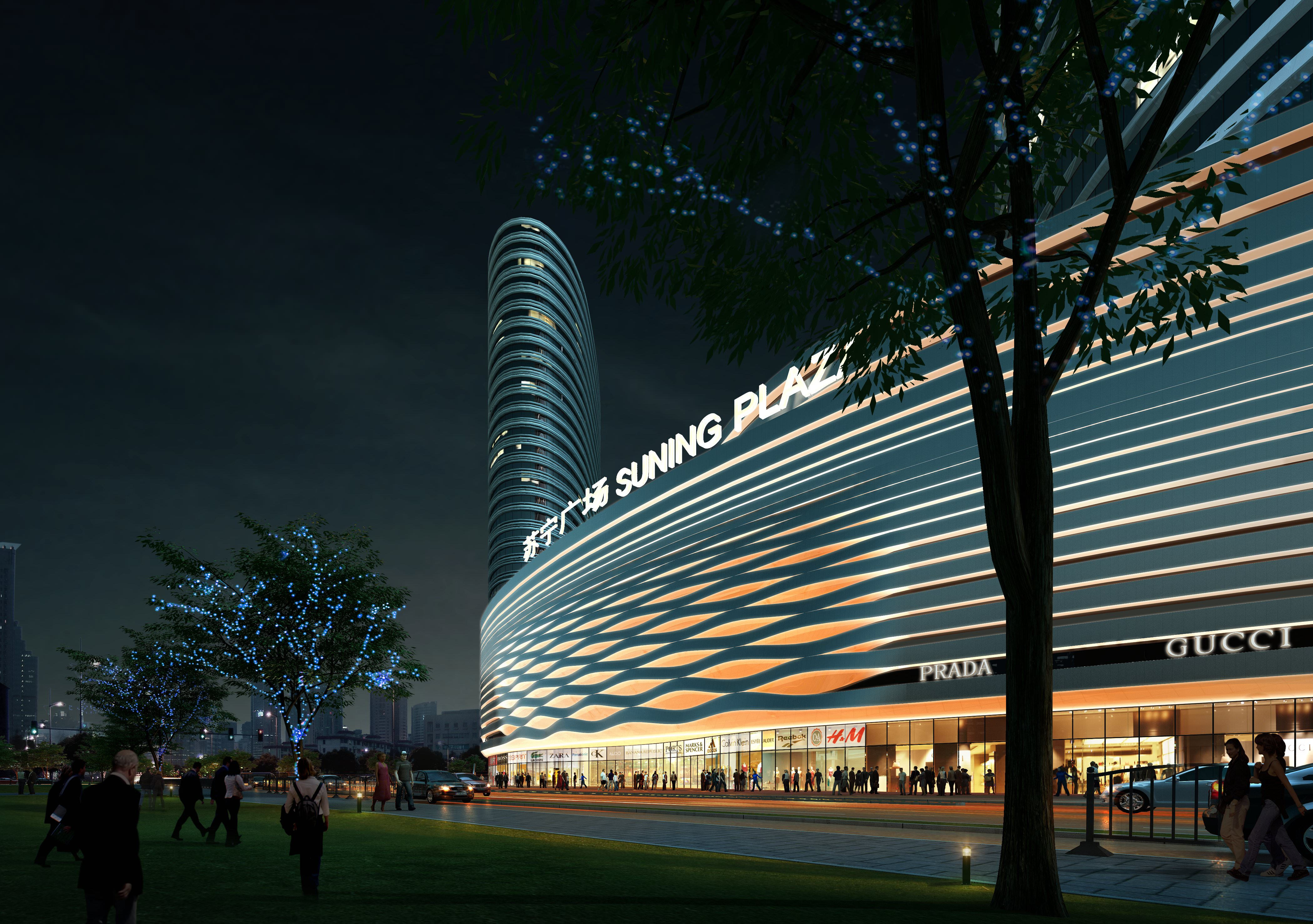 Shopping mall at night 465 3d models cgtrader for 3d rendering online