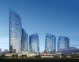 glass tower buildings 822 3d models