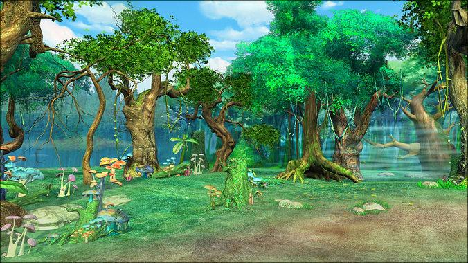 forest sence 1 3d model max 1