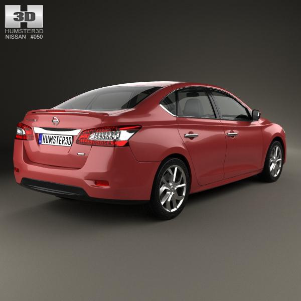 2014 Nissan Sentra Interior: Nissan Pulsar Sentra 2014 3D Model MAX OBJ 3DS FBX C4D LWO