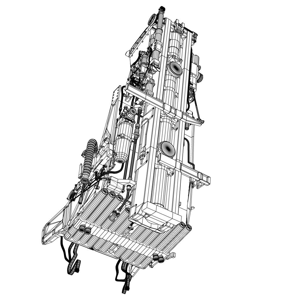 martin baker mk10 ejection seat 3d model max fbx lwo lw