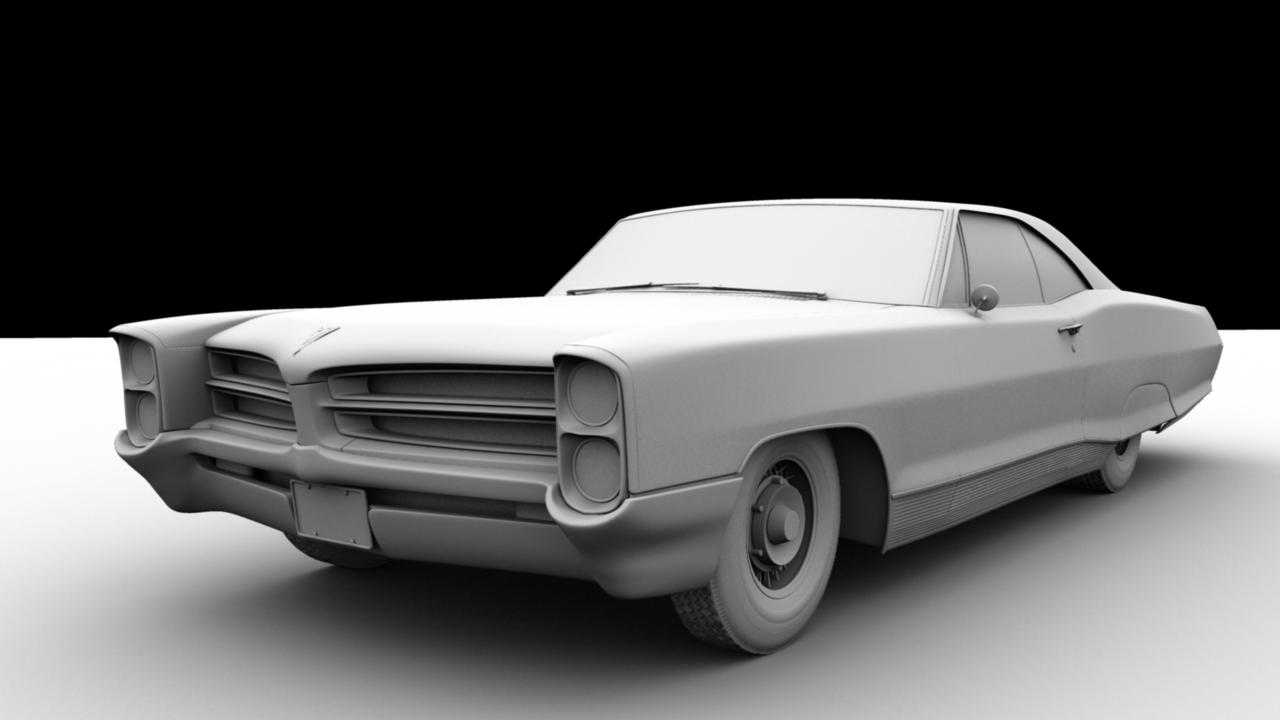 1966 pontiac bonneville exterior 3d model obj ma mb 4