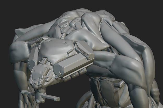 warrior-skanda 3d model ztl 1