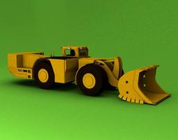 3d model underground mining loader r1700g