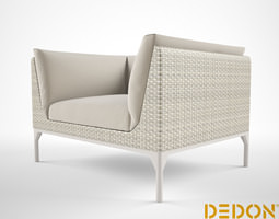 3D Dedon MU Lounge chair