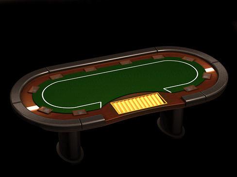 poker media table 3d model max obj mtl 3ds c4d lwo lw lws ma mb 1