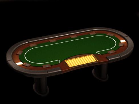 Poker media table