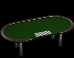 Poker tournament table 3D model