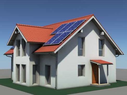 Residential Solar House