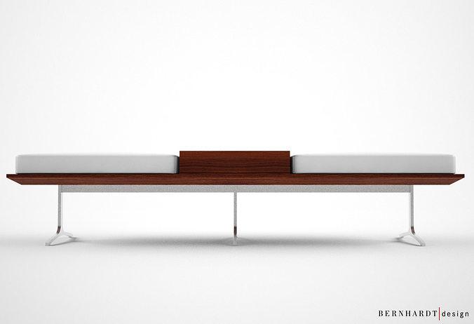 Bernhardt design argon bench 3d model max cgtrader com