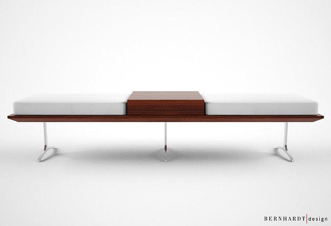 Bernhardt design argon bench 3d model max