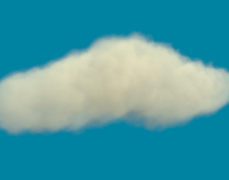 3d a rather realistic cloud d