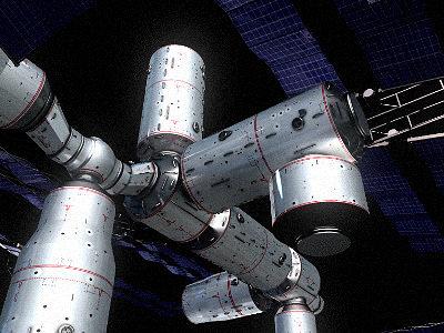 space station 3d model obj mtl 3ds hrc xsi tga 1