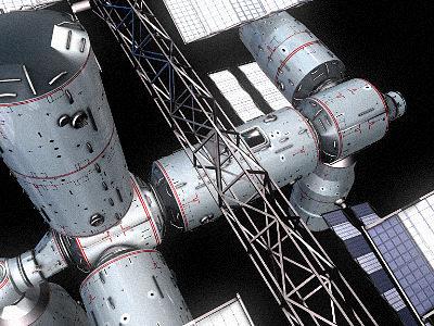 Space Station 3D Model OBJ 3DS HRC XSI | CGTrader.com