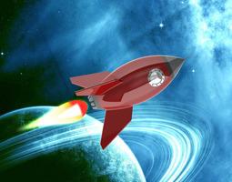 3D Cartoon Rocket Ship