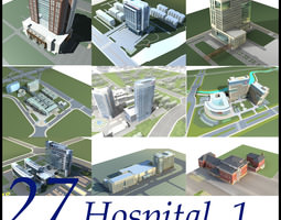 Hospital Building collection 27 3D