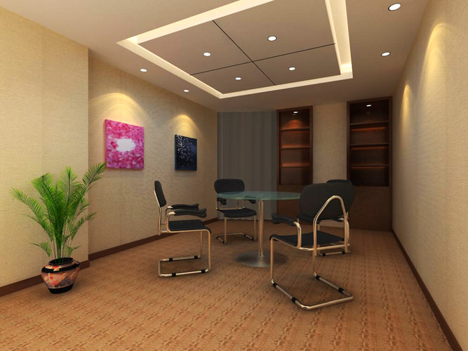 Reception hall with cabinet and decoration 3d model max for 3d model decoration