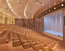 3d luxurious theatre with exotic walls