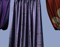 3D model Draperies lowpoly collection