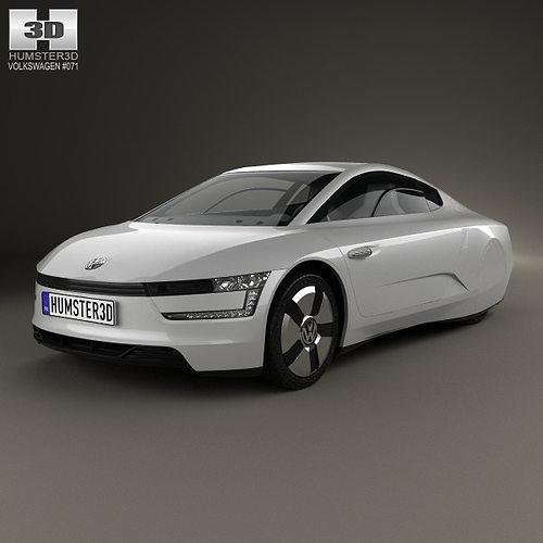 volkswagen xl1 2013 3d model max obj mtl 3ds fbx c4d lwo lw lws 1