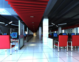3D Internet Bar with Decorative Ceiling