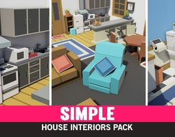 Simple House Interiors - Cartoon assets realtime