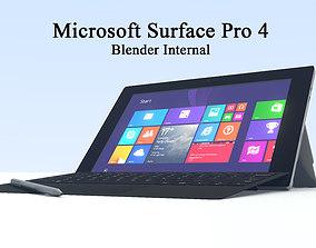 Microsoft Surface Pro 4 3D model