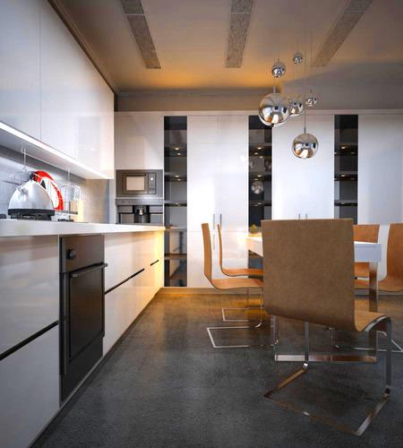 3d Max Kitchen Interior Design: 3D Model Kitchen Cum Dining Hall