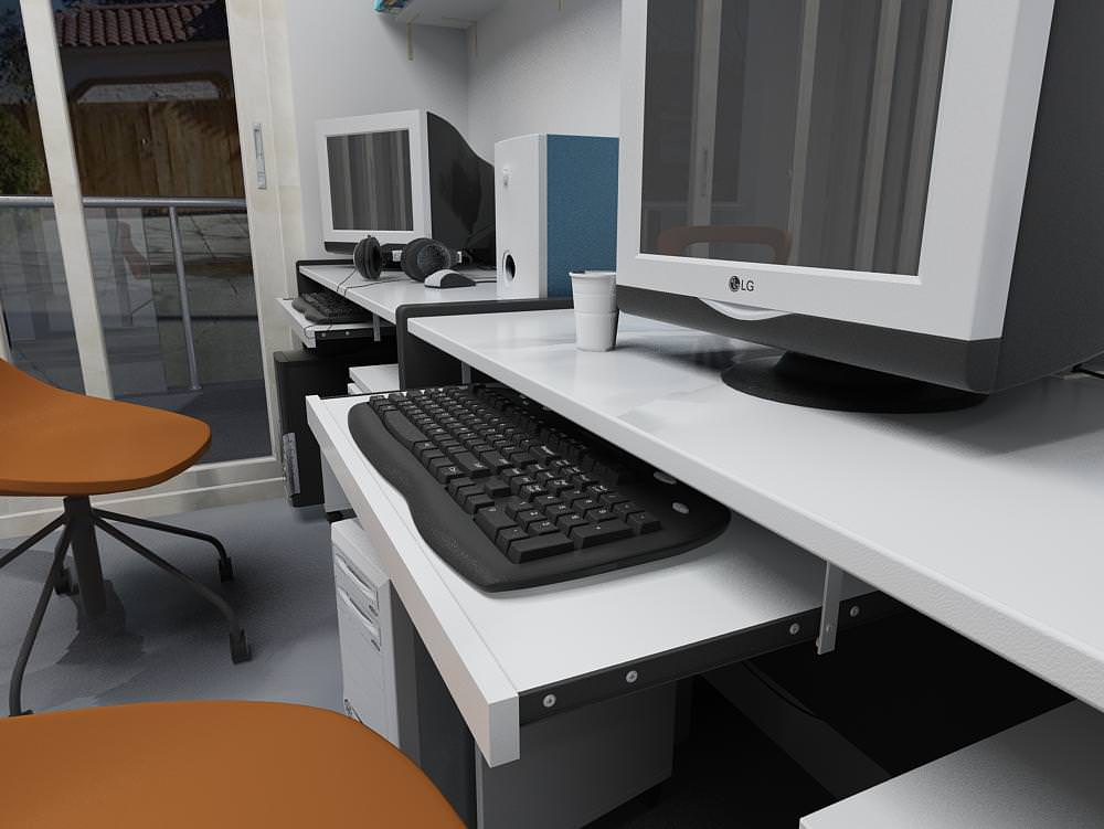 comments 0 office with computer desks 3d model office 019 3d models