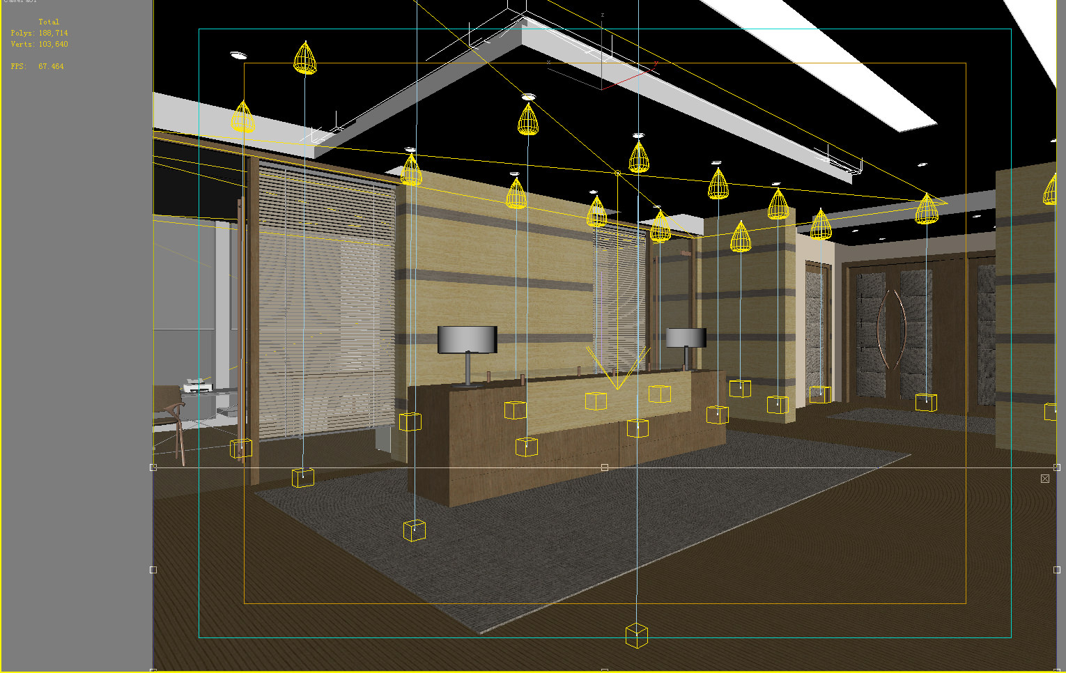 Banquet hall reception area download 3d house - Reception Hall With False Ceiling 3d Model Max 2