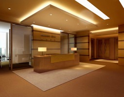 3D Reception Hall with False Ceiling
