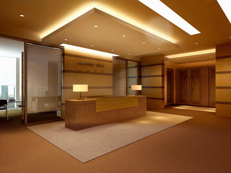 Reception Hall With False Ceiling 3d Model Max Cgtrader Com
