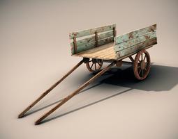 Mule Cart 3D Model