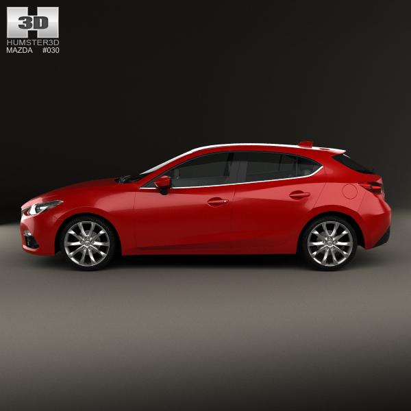 2008 Mazda 3 For Sale 1 6m Obo: Mazda 3 Hatchback 2014 3D Model MAX OBJ 3DS FBX C4D LWO LW LWS