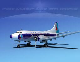 3D model Martin 202 Eastern Airlines 2