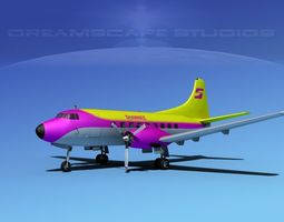 Martin 202 Shawnee Airlines 3D model