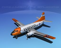 3D model Martin 202 US Coast Guard 1