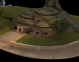 3D Scifi Scenery House
