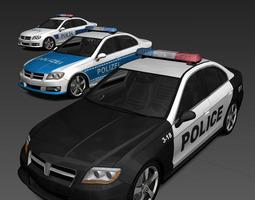 Generic Police Cars 3D model