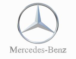mercedes-benz logo 3d model max obj 3ds fbx dxf stl