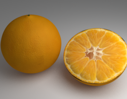 3D Rigged Orange