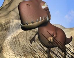 3D asset Cartoon T-Rex Rigged
