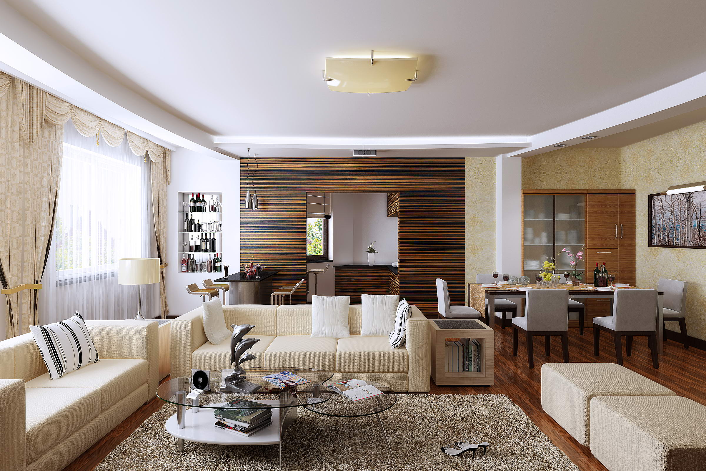 Living room with designer floor and wall 3d model max for 3d living room planner