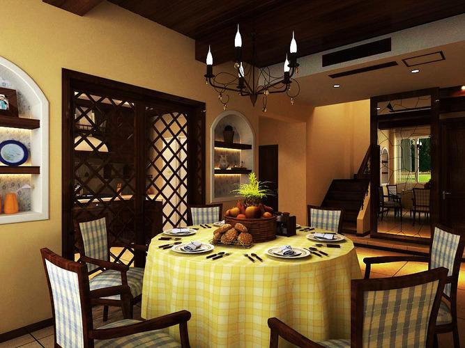 Elegant dining room 3d model max for Dining room 3d model