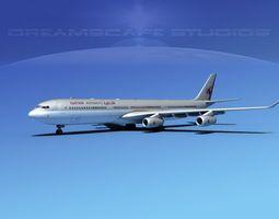 Airbus A340-600 Qatar 3D model