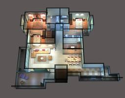 3D House with Exquisite Interior