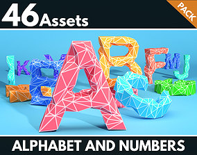 Alphabet and numbers 3D model