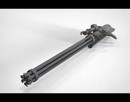 machinegun gatling 3D model