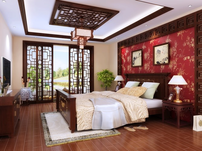 Fully furnished master bedroom 3d cgtrader for Bedroom designs 3d model